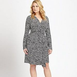 MICHAEL Michael Kors Dresses - Michael Kors Zebra Faux wrap dress